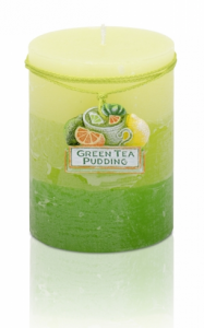 Świeca Green Tea Pudding słupek 70x90