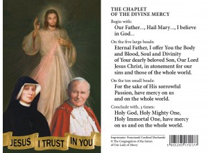 (EN) Plastic Prayer Card - Jesus, St. F. and JPII