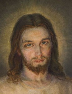 (EN) Prayer Card Face of Jesus. Prayer 56x90