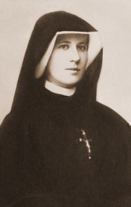 (EN) Prayer Card St. Faustina sepia I