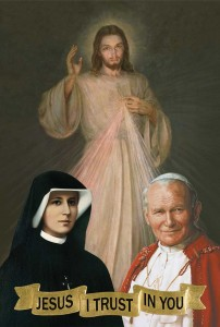 (EN) Prayer Card Jesus, JPII, S.F. Chaplet. 56x90